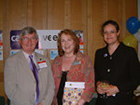 Hywel, actress Pam Ferris and Emily Holzhausen during Carers Week 2006
