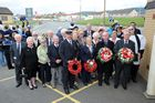 Hywel takes a keen interest in Port Talbot's maritime past, present and future.  He is at a wreath laying ceremony to commemorate Port Talbot Merchant Seamen who lost their lives in World War 2.  He is also a strong supporter of the local Seamen's Mission